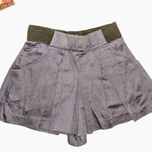 Jill By Jill Stuart Navy Silk Blend Shorts Size 2
